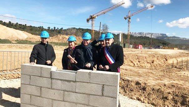 Pose de la première pierre de la résidence intergénérationnelle «Seniors» à Meyreuil (13)
