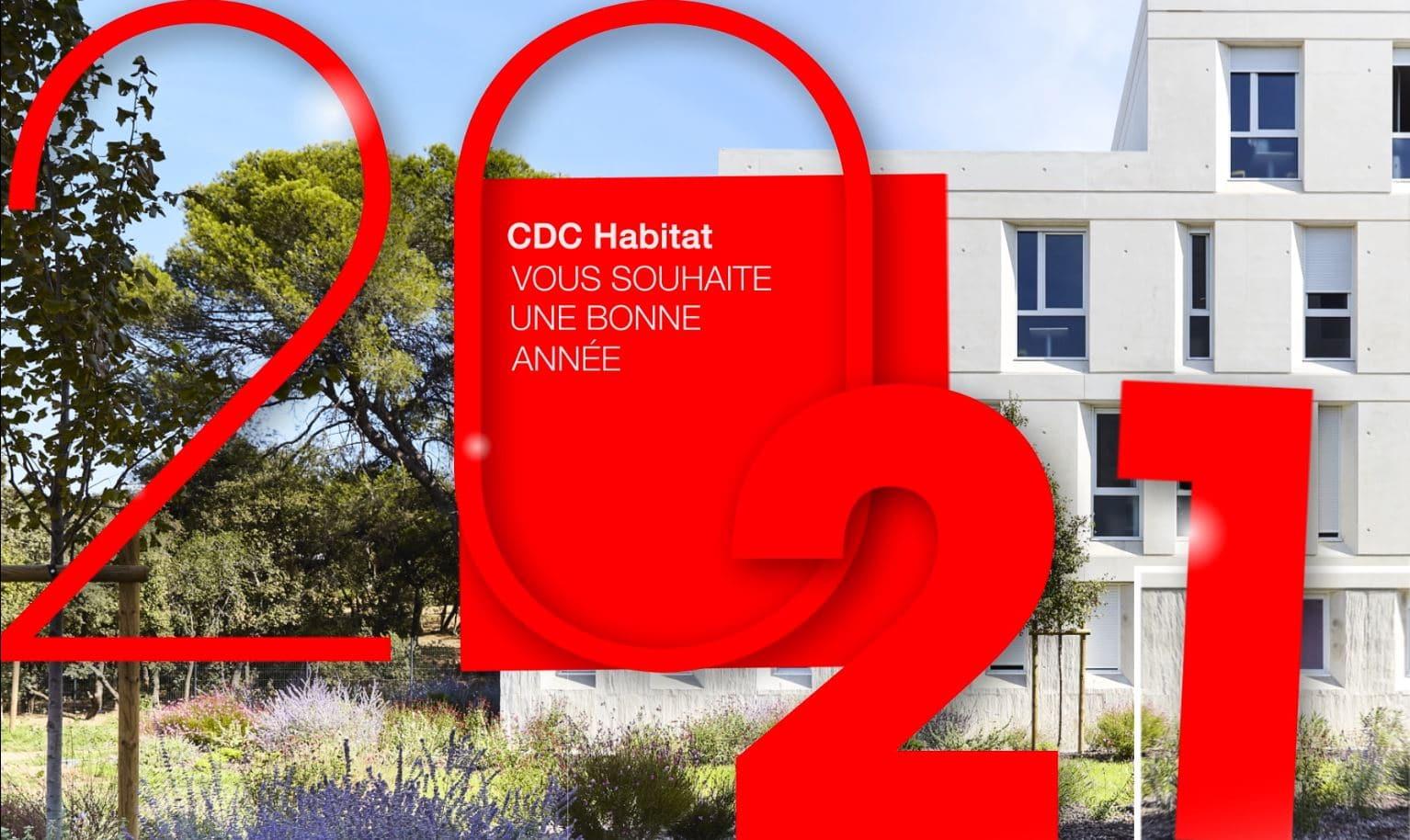 CDC Habitat vous souhaite une bonne année 2021