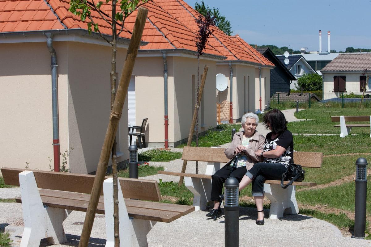 Residence seniors Jacques Prevert a Forbach. 18 logements individuels livres en juin 2010.