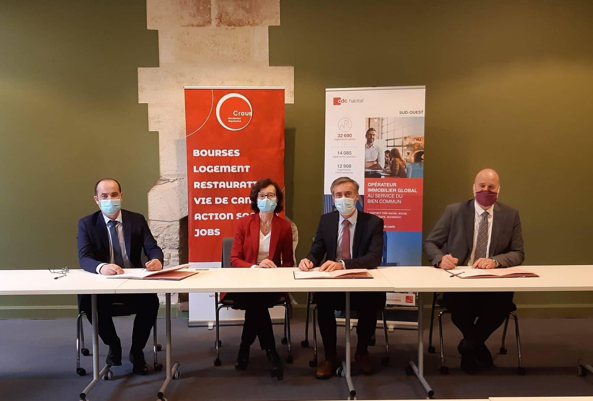 Signature d'un partenariat avec le CROUS de Bordeaux Aquitaine