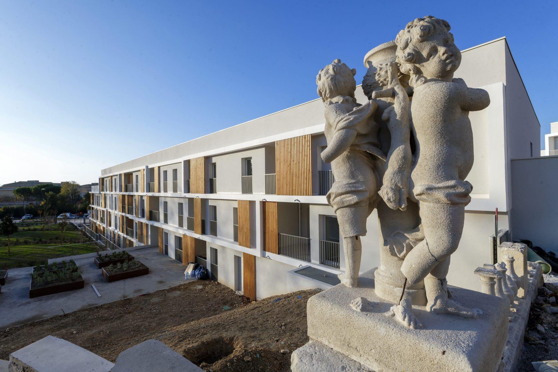 CDC Habitat accueille les réalisations de jeunes artistes au sein de sa résidence Aquae-Belle Fontaine à Marseille